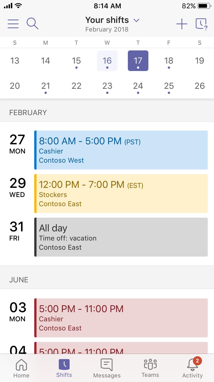 1001 - My Schedule